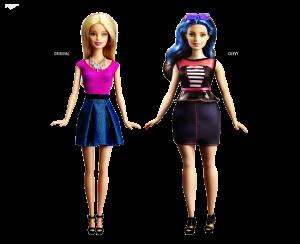 nueva barbie curvilinea, barbie tradicional