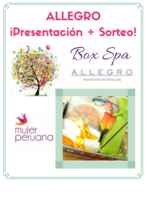 "Presentación de ""ALLEGRO"" + Sorteo de Box Spa"