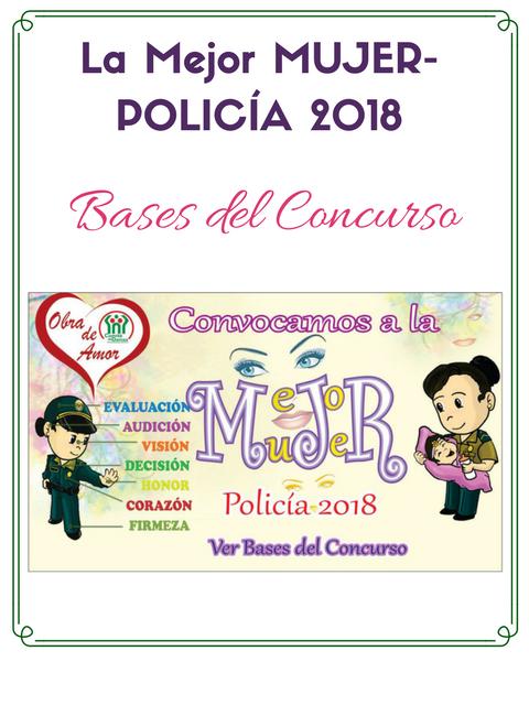 Concurso: La Mejor Mujer Policía 2018