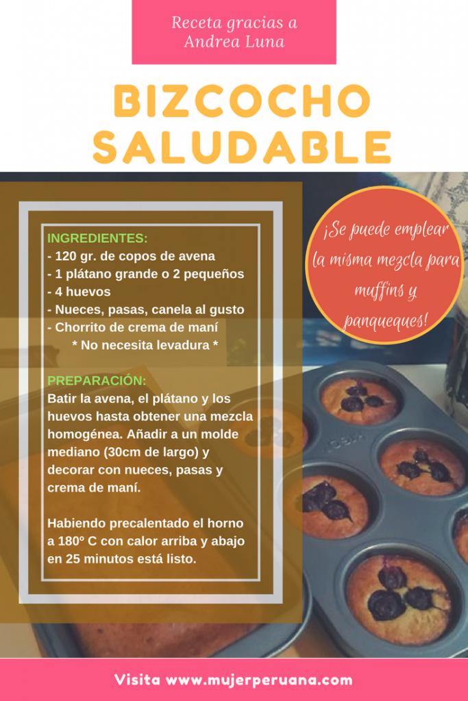 receta de bizcocho saludable