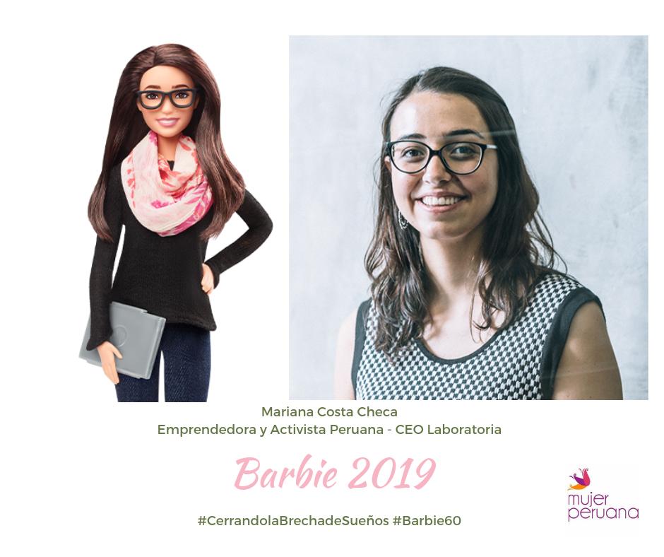 Peruana Mariana Costa – presentada como Barbie de 60 Aniversario